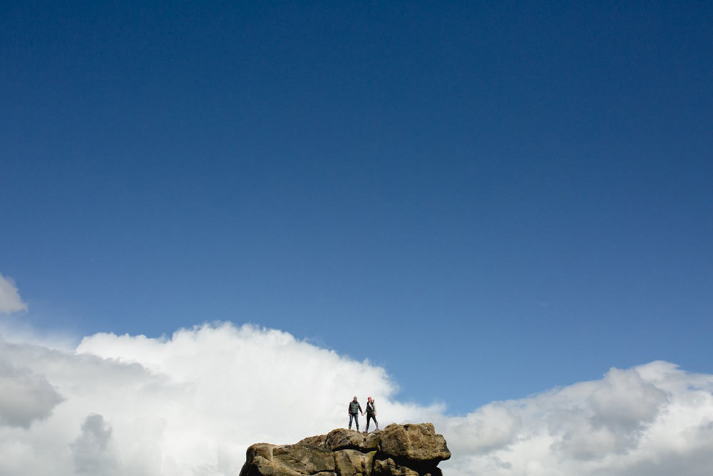 portrait photo of couple at almscliffe crag