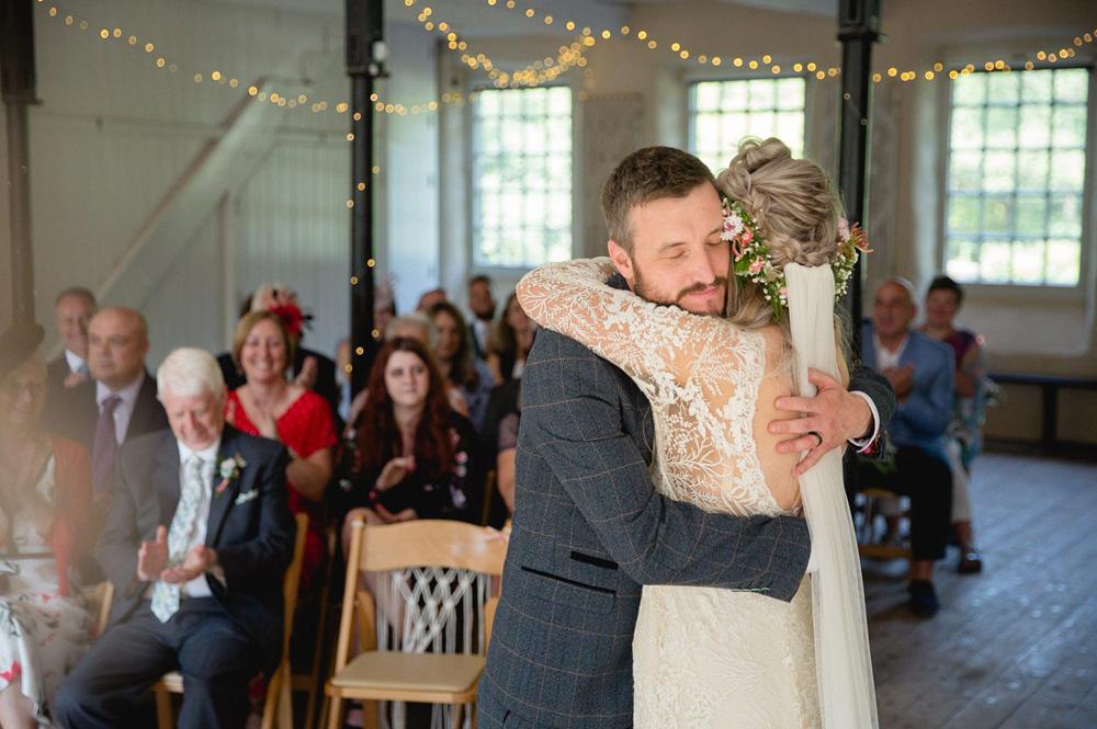 documentary photo of Gibson Mill wedding venue