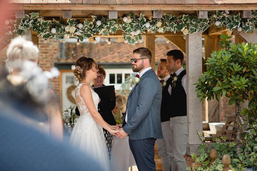 outdoor wedding ceremony at Hornington Manor near York