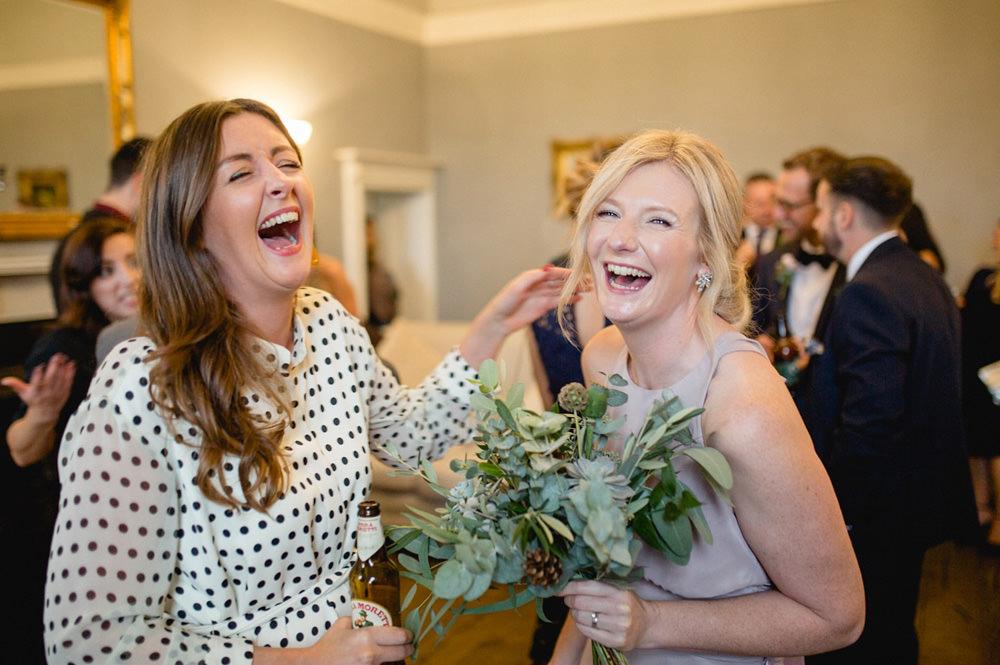 photo guests enjoying a wedding at hornington manor