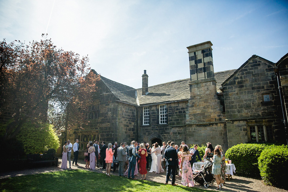 Documentary photo of guests in the Oakwell Hall Garden