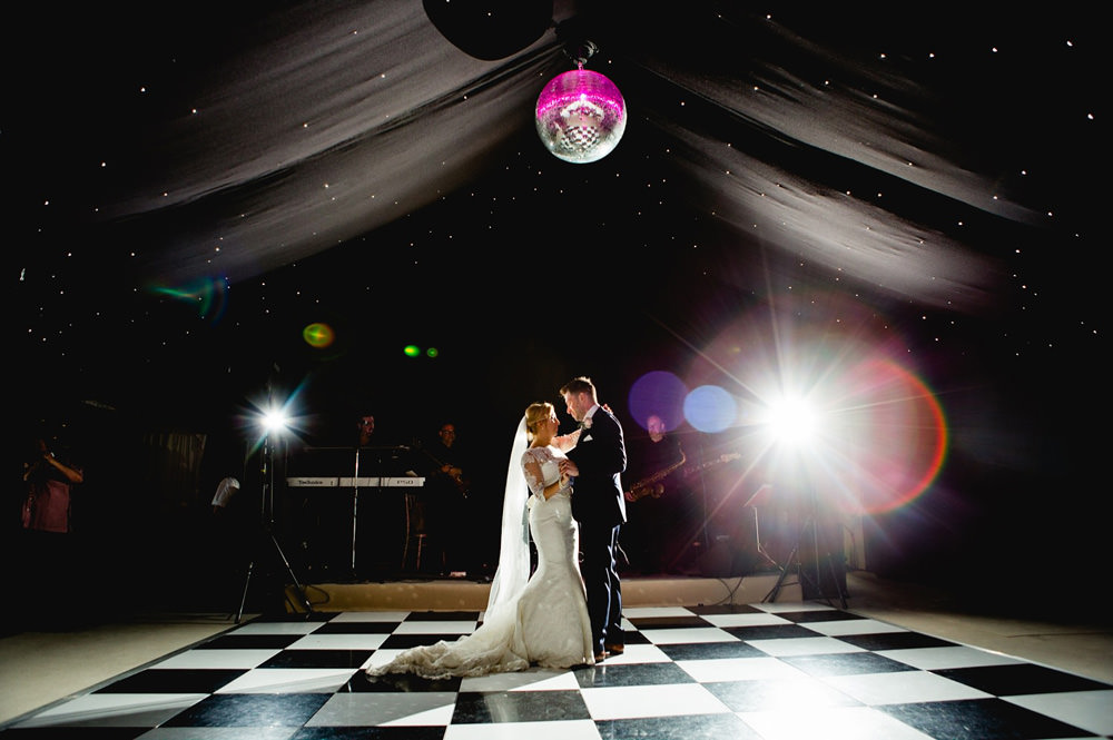 First dance with band at Priory cottage near Wetherby