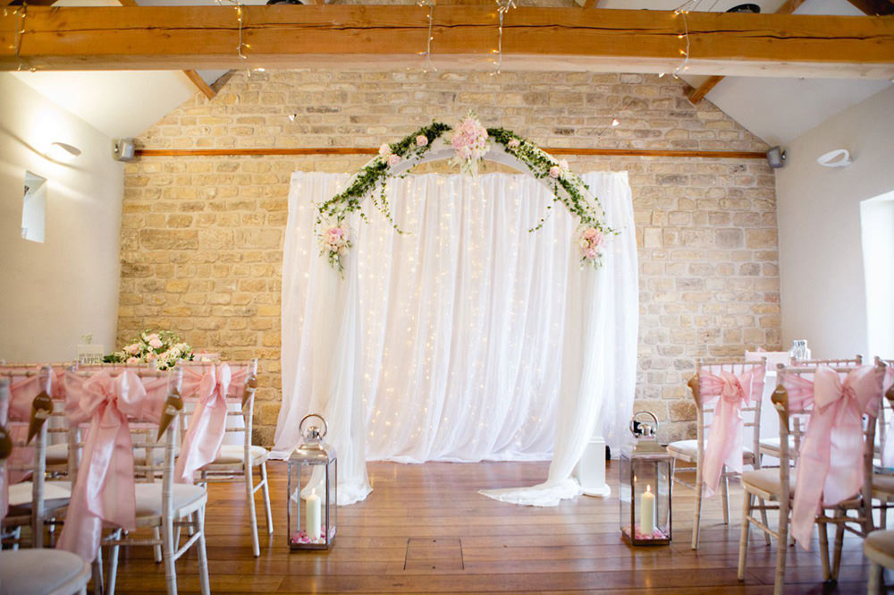 Prioy cottages barn setup for wedding ceremony