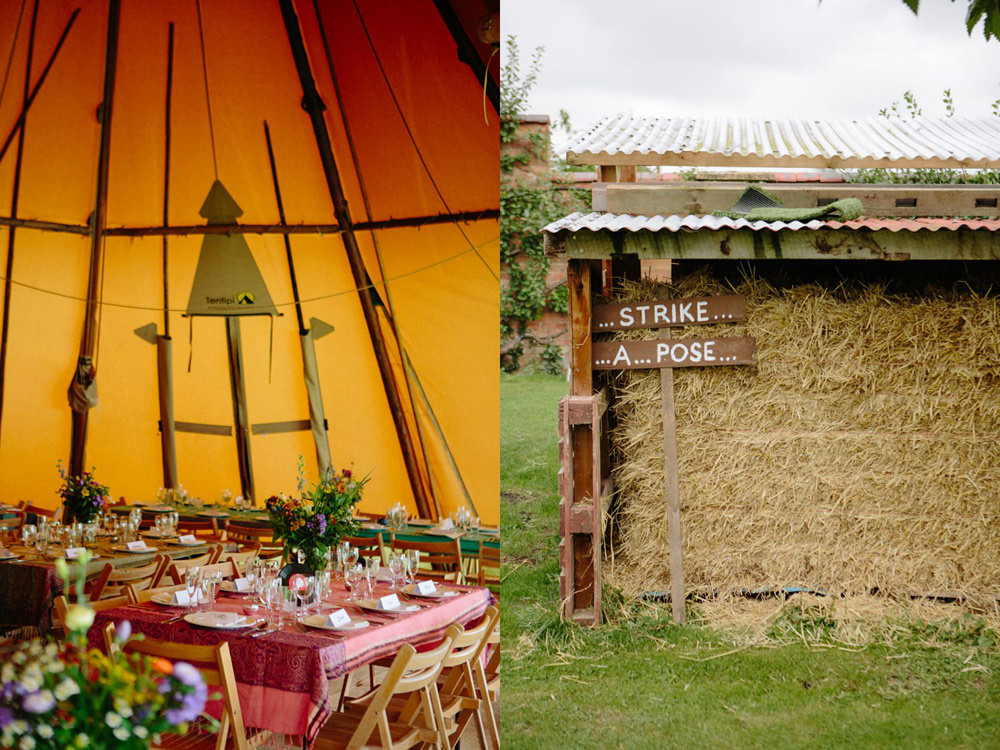 rustic tipi wedding styling