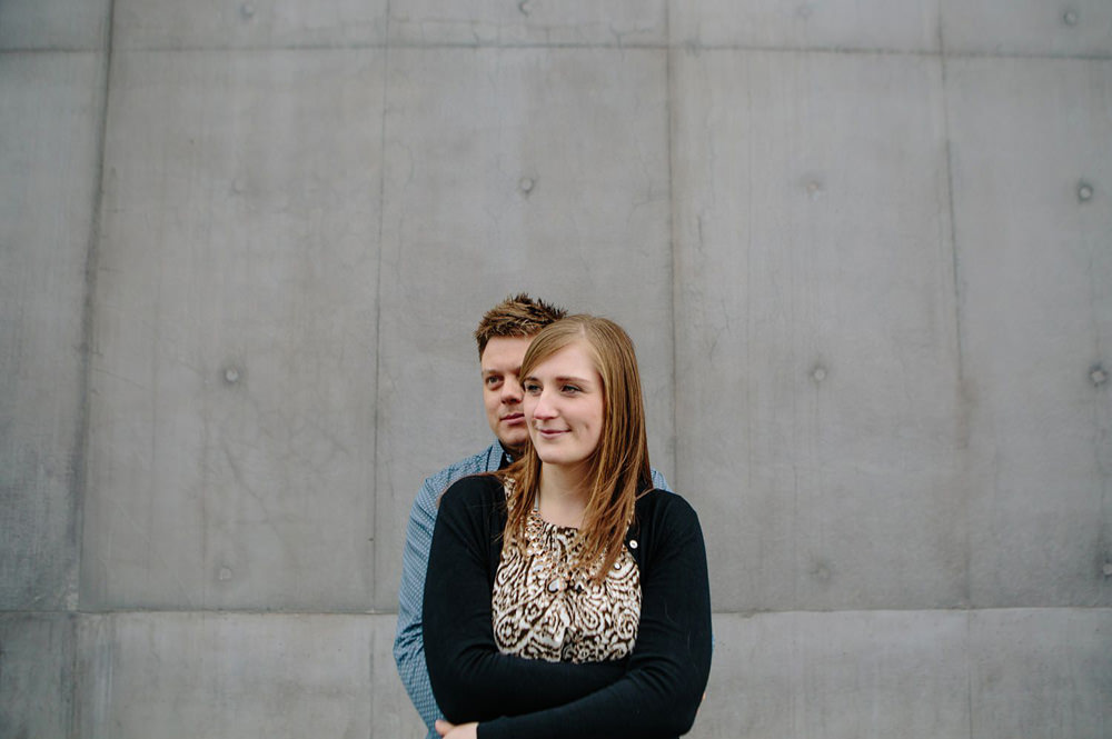 engagement portrait shoot outside of the hepworth wakefield wedding venue