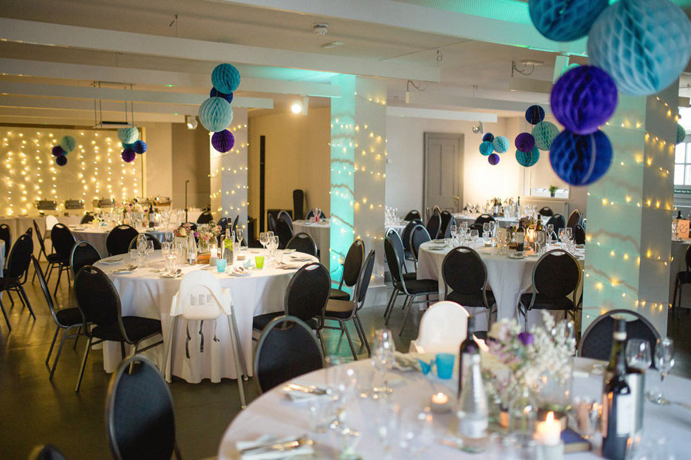 the tetley gallery room setup for a wedding reception