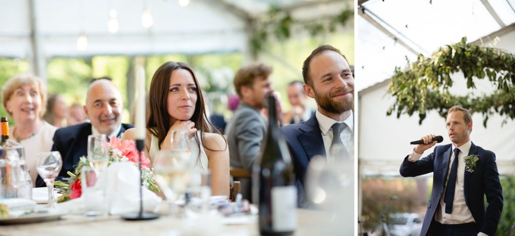 reactions during speeches at summer kent wedding
