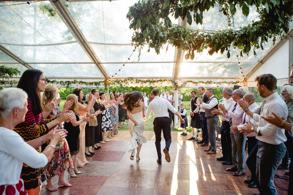 Ceilidh as first dance in Kent wedding