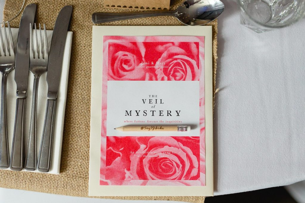photo of mystery book a creative wedding favour idea