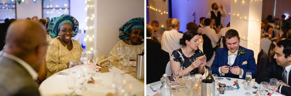 natural photographs of the wedding guests at the tetley