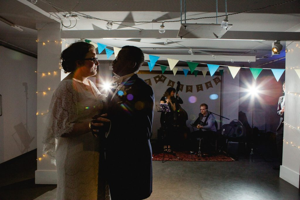 first dance at a wedding at the tetley in leeds city centre
