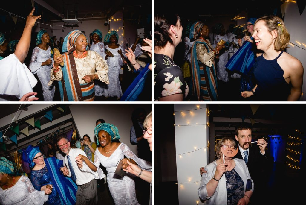 guests dancing at the tetley wedding venue