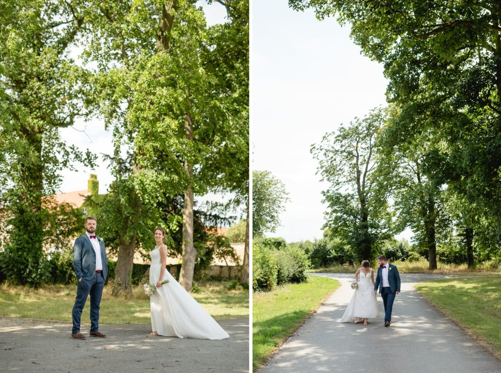 relaxed portrait in woodlands of bride and groom in york
