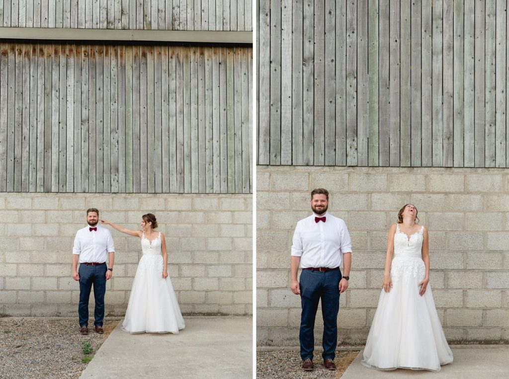 quirky and fun wedding portraits at Hornington manor
