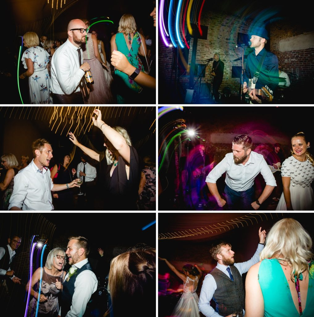 Dance floor action photos during band at hornington manor