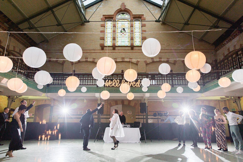 Alternative Wedding Venue Manchester at Victoria Baths | Mor & Lee